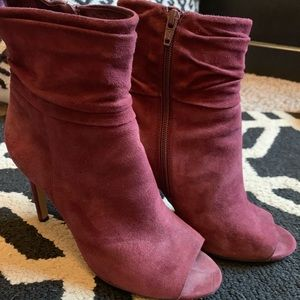 Vince Camuto Burgundy Tall Ankle Boots